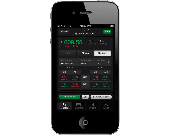 TD Ameritrade Mobile Trader iphone