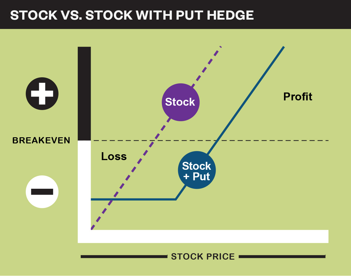 Stock vs. stock with put hedge