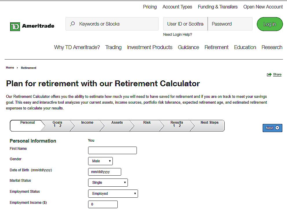 Retirement- Income-Calculator
