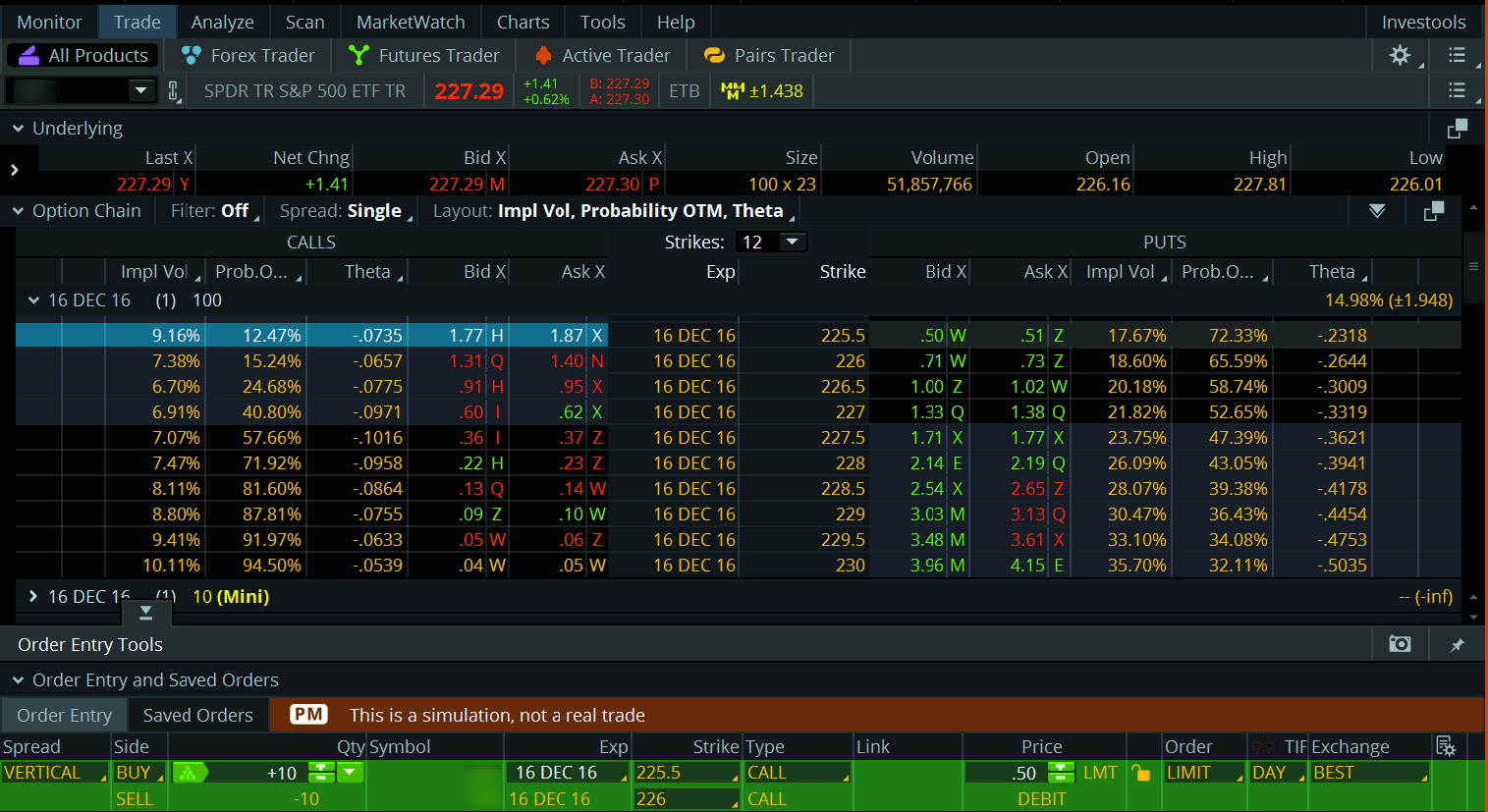 paperMoney trading platform