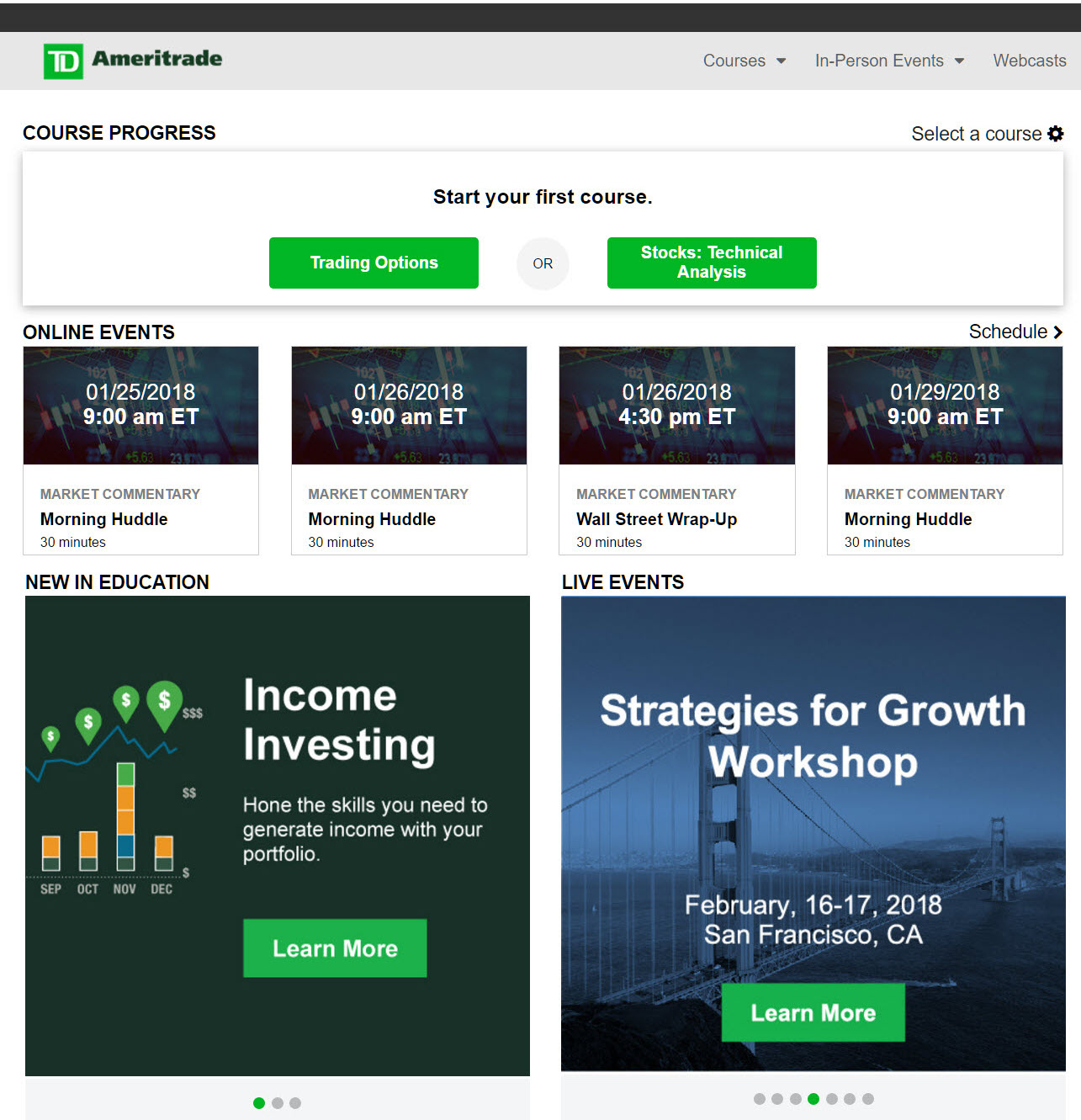 Education for investors and traders from TD Ameritrade